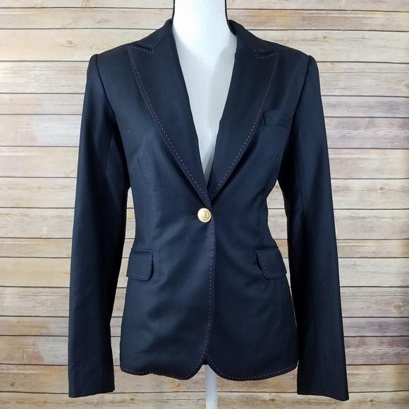 Gutscheincode wie kauft man 50% Preis Lilly Pulitzer 6 Wool White Label Blazer Jacket